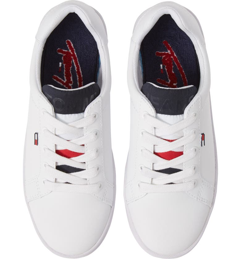 TOMMY JEANS Roxie Platform Sneaker, Main, color, WHITE