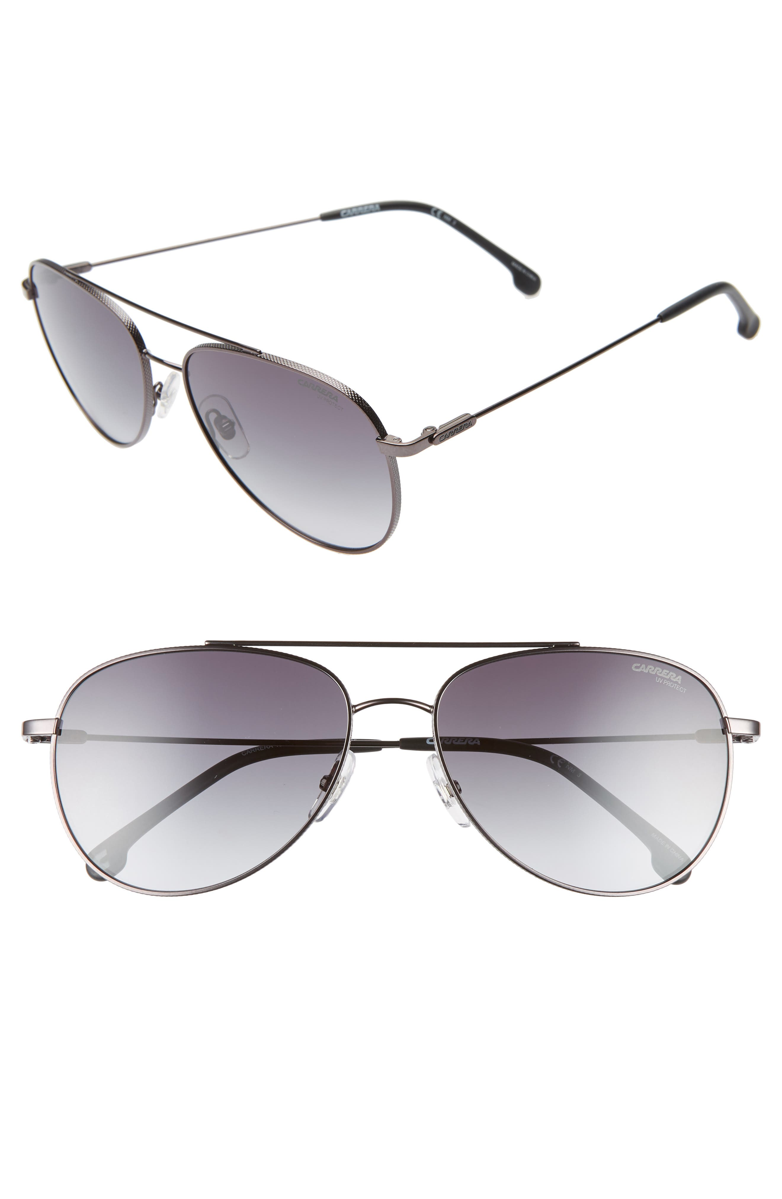 Carrera Eyewear 60Mm Aviator Sunglasses - Dark Ruthenium Black