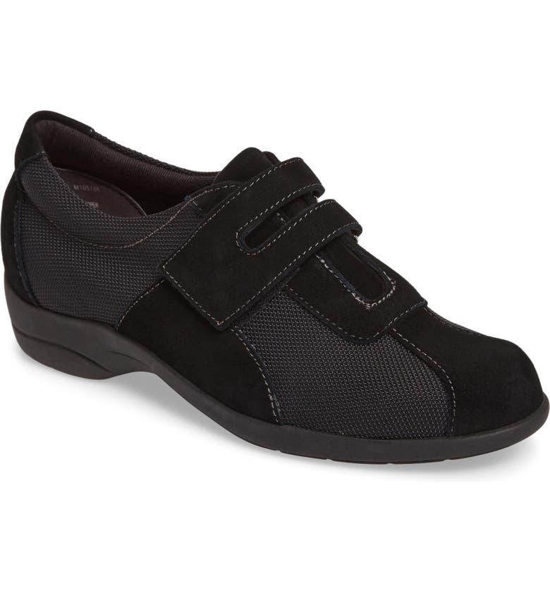 MUNRO Joliet Sneaker, Main, color, BLACK FABRIC