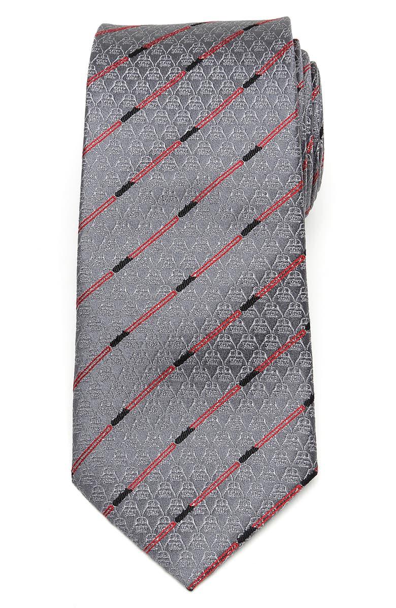 CUFFLINKS, INC. Darth Vader Lightsaber Silk Tie, Main, color, GRAY