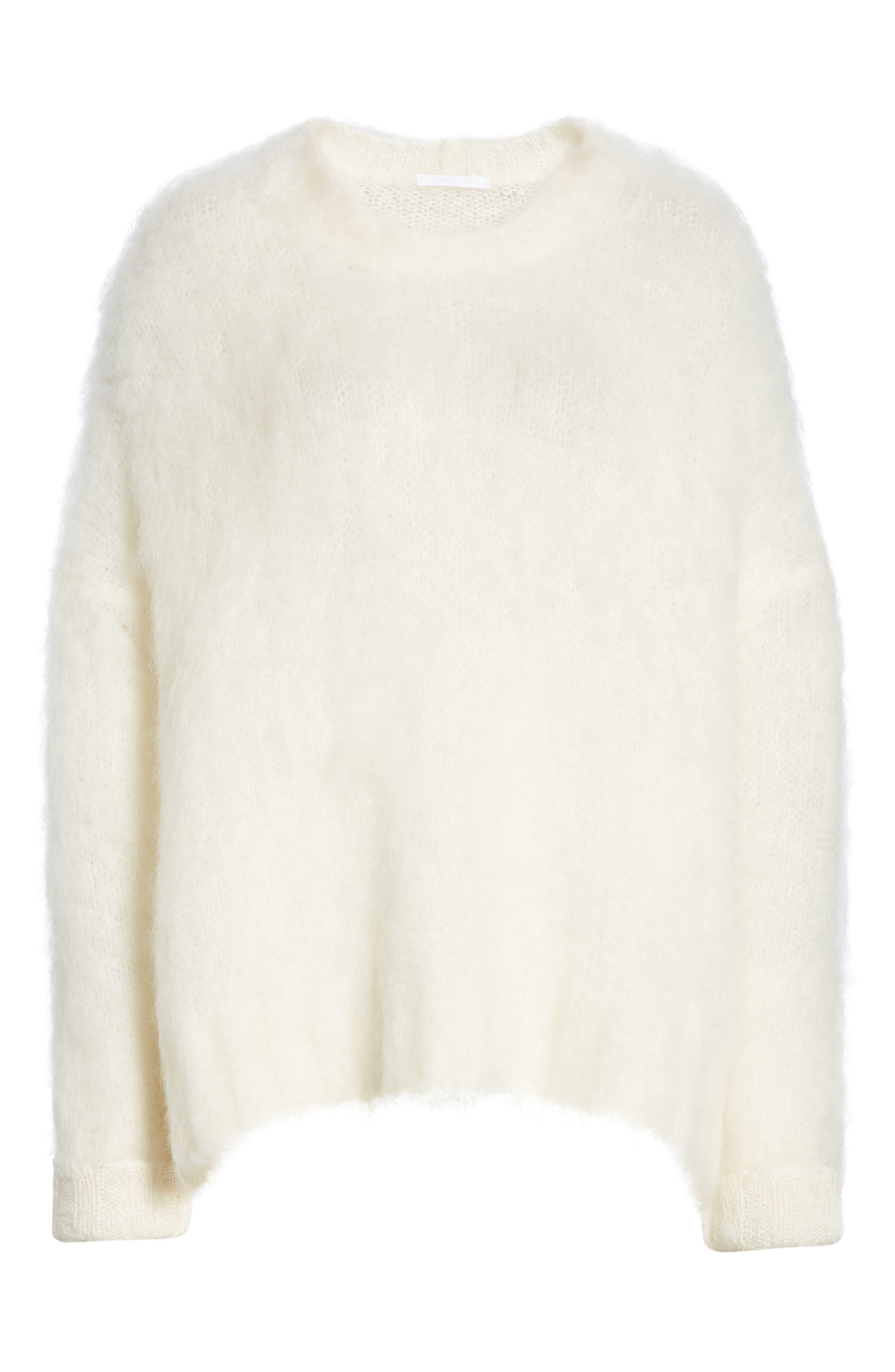 ,                             Mohair Blend Sweater,                             Alternate thumbnail 6, color,                             NATURAL WHITE