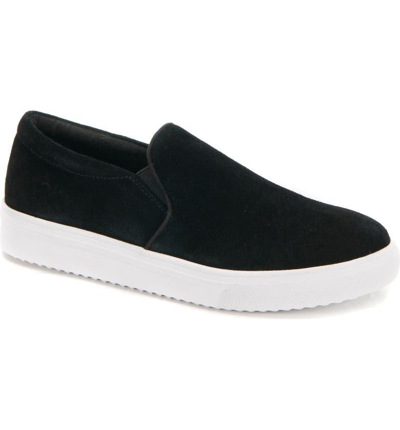 BLONDO Gracie 2.0 Waterproof Slip-On Sneaker, Main, color, BLACK SUEDE