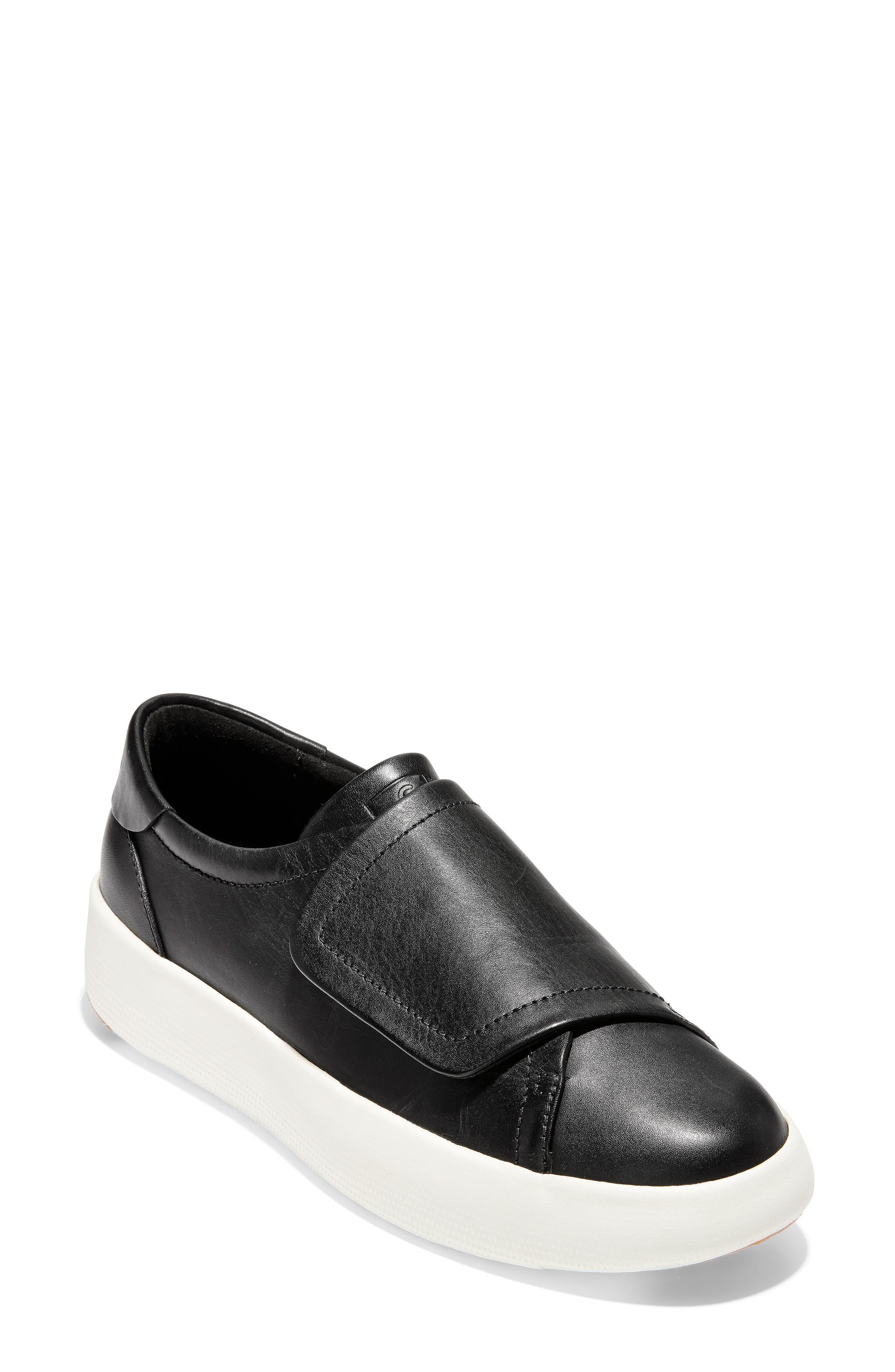 GrandPro Flatform Sneaker, Main, color, BLACK LEATHER