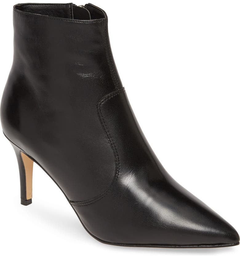 HALOGEN<SUP>®</SUP> Ashlee Pointed Toe Bootie, Main, color, 001
