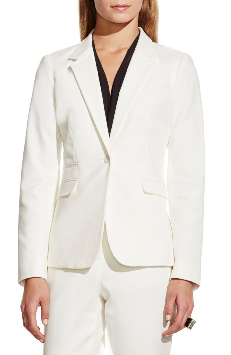 VINCE CAMUTO Stretch Cotton One-Button Blazer, Main, color, 903
