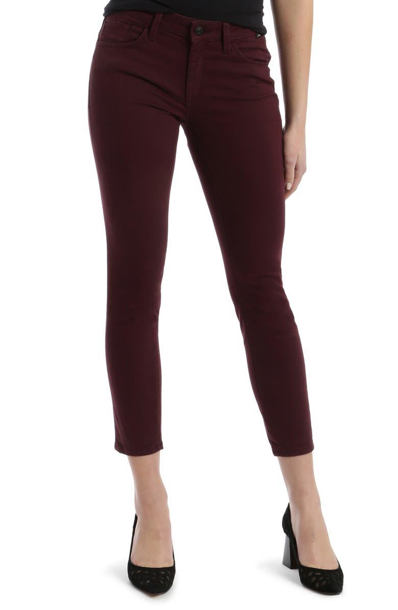 MAVI JEANS Alissa Sateen Ankle Skinny Jeans, Main, color, 930
