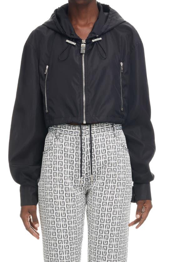 Givenchy Jackets LOGO CROP WINDBREAKER