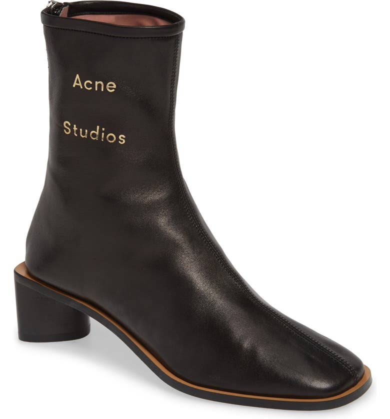 ACNE STUDIOS Bertine Bootie, Main, color, BLACK/ BLACK