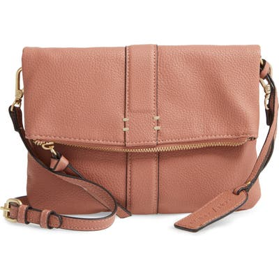 Sole Society Kwaye Faux Leather Foldover Clutch - Pink