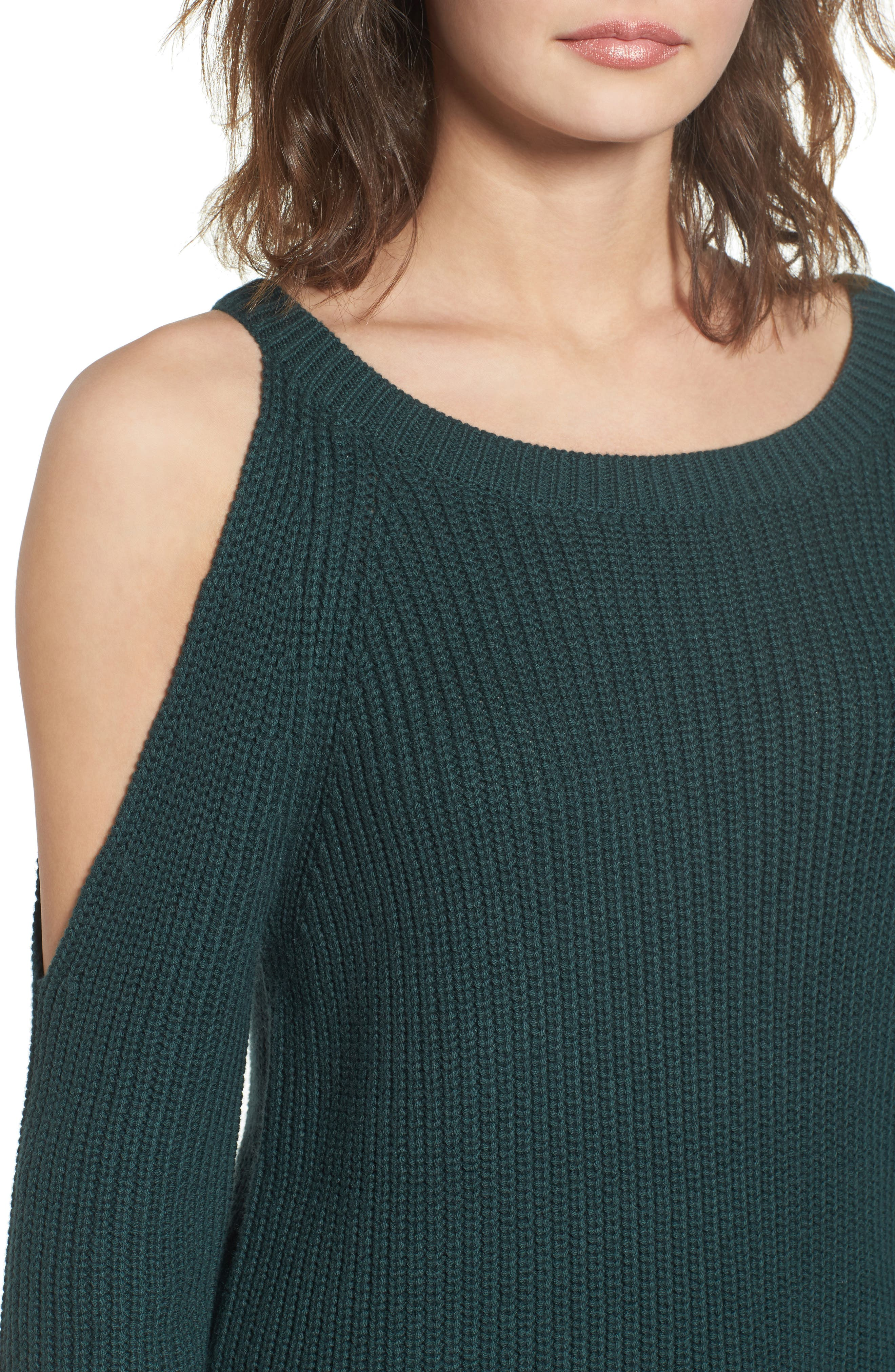 ,                             Asymmetrical Cold Shoulder Sweater,                             Alternate thumbnail 10, color,                             300