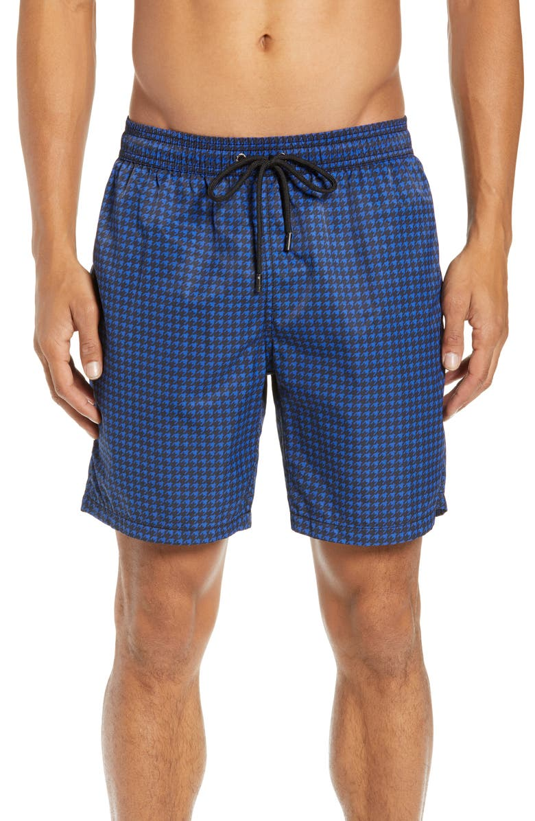 08e409e0c6 Mr. Swim Houndstooth Print Swim Trunks, Main, color, 410