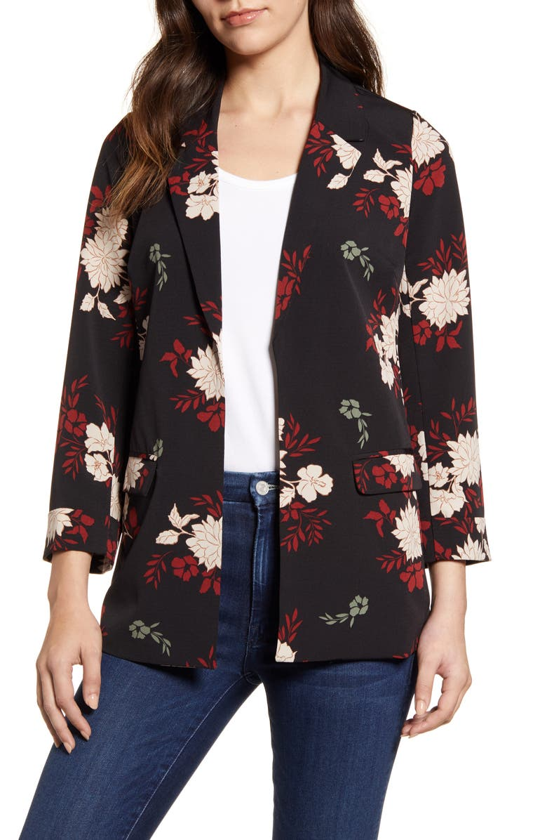 BOBEAU Open Front Blazer, Main, color, 016