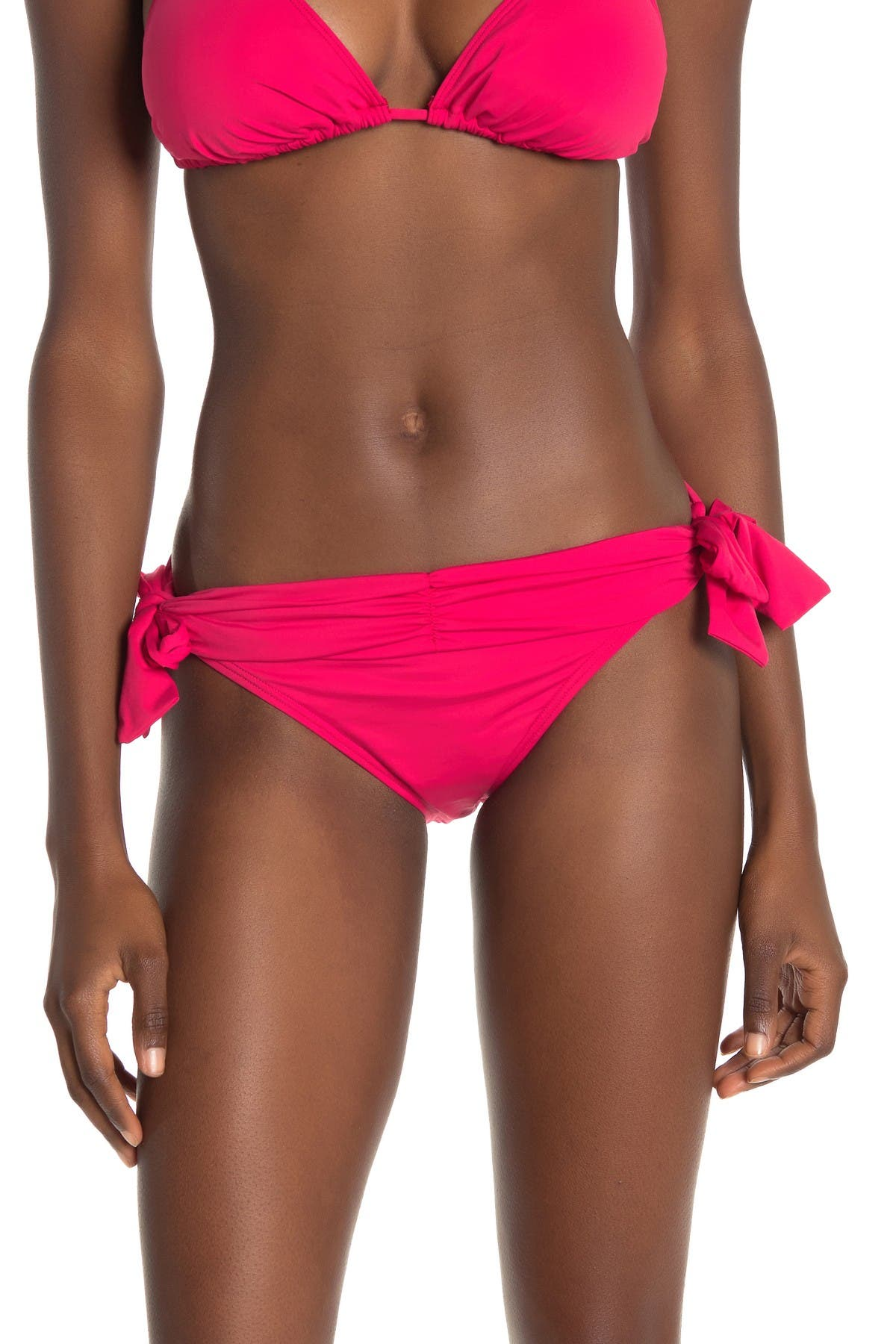 Image of Tommy Bahama Pearl Side Tie Shirred Hipster Bikini Bottoms