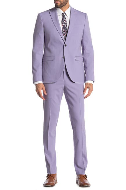 Image of Nordstrom Rack Solid Two Button Peak Lapel Extra Trim Fit Suit