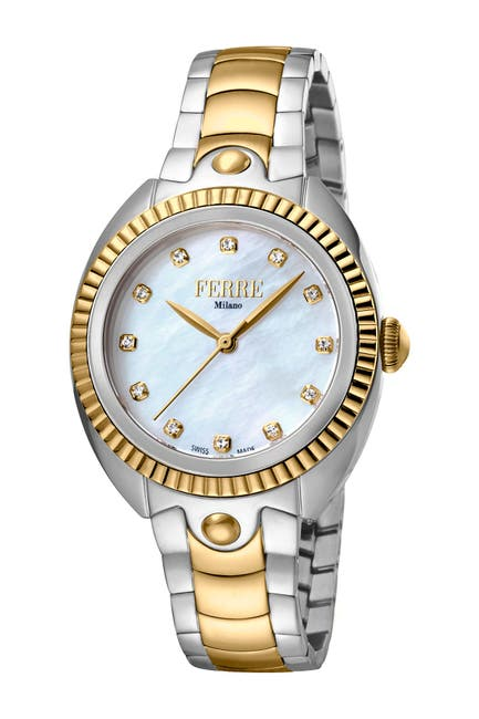 Image of Ferre Milano Women's Two-Tone Bracelet Watch, 34mm