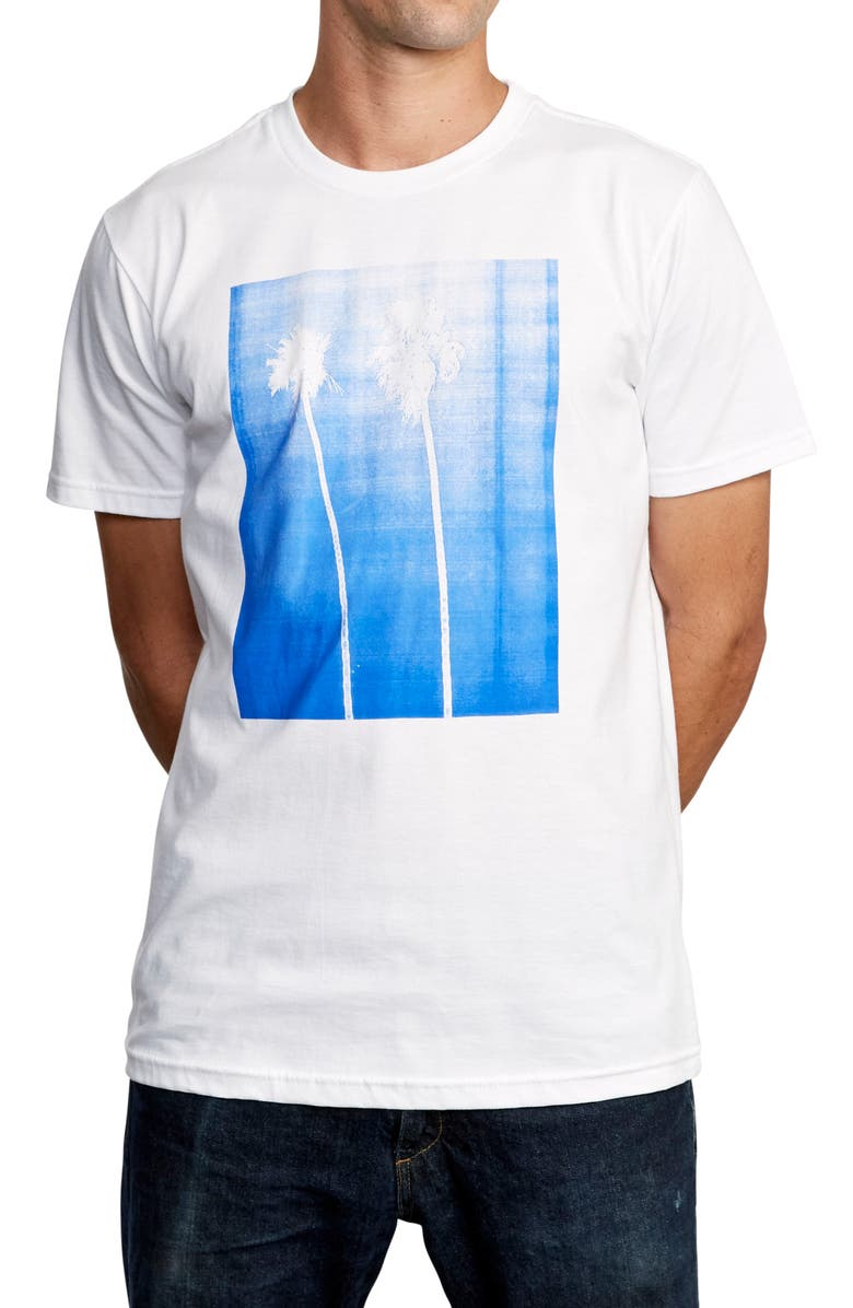 RVCA Copycat Graphic T-Shirt, Main, color, WHITE