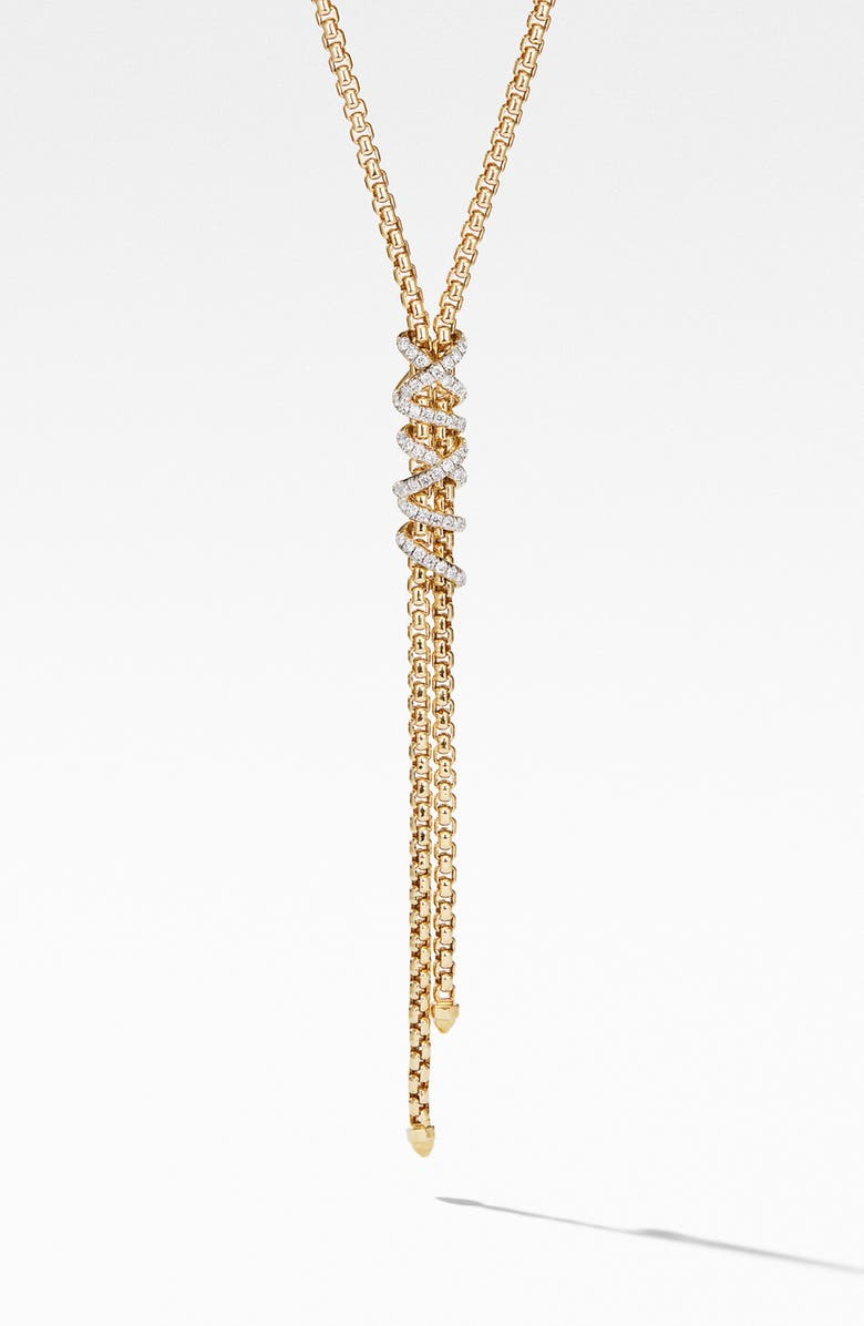 DAVID YURMAN Helena Y-Necklace in 18K Yellow Gold with Diamonds, Main, color, GOLD/ DIAMOND