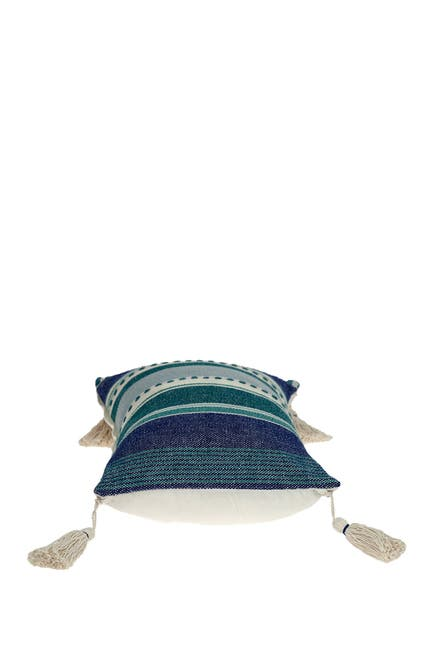 Image of Parkland Collection Whistle Transitional Green/Mint Throw Pillow
