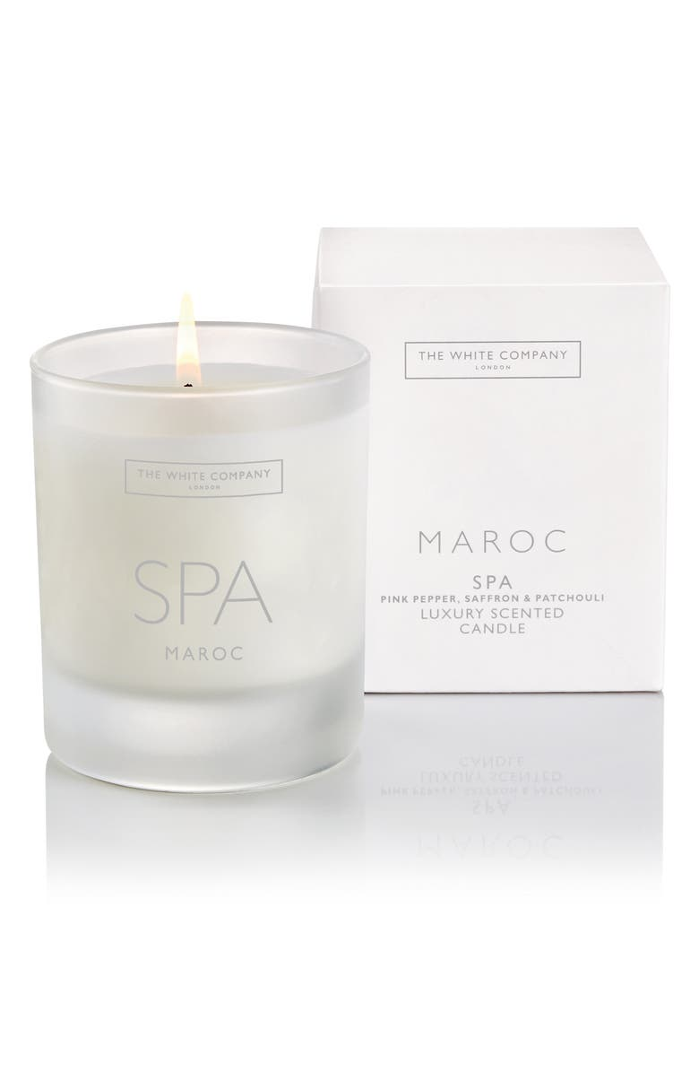 THE WHITE COMPANY Maroc Spa Luxury Scented Candle, Main, color, MAROC