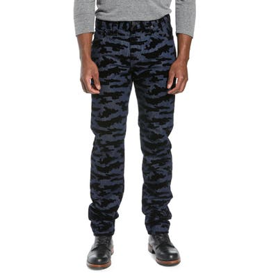 True Religion Brand Jeans Rocco Camo Skinny Fit Jeans, Blue