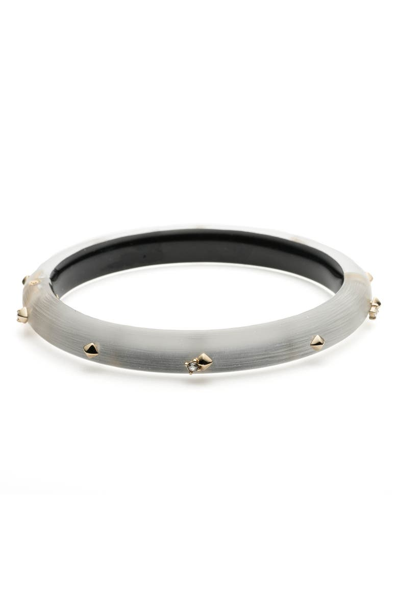 ALEXIS BITTAR Golden Stud Hinge Bracelet, Main, color, SILVER