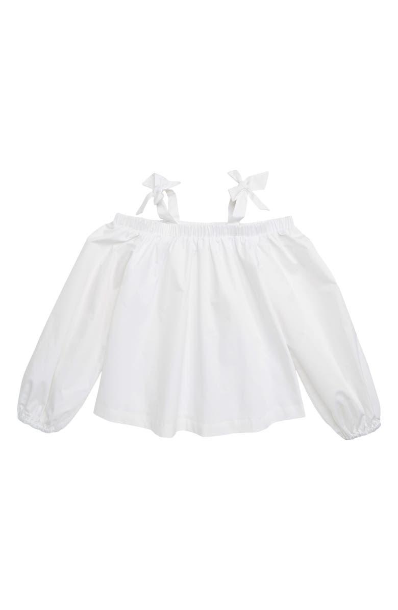HABITUAL Ava Cold Shoulder Top, Main, color, WHITE