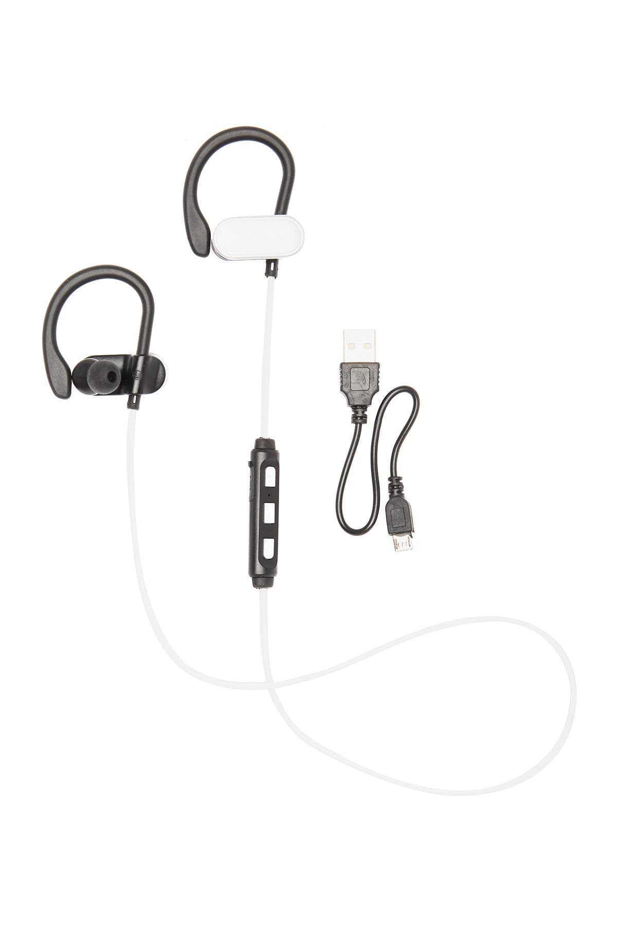 Image of CYLO Black/Silver LED Bluetooth Earbuds