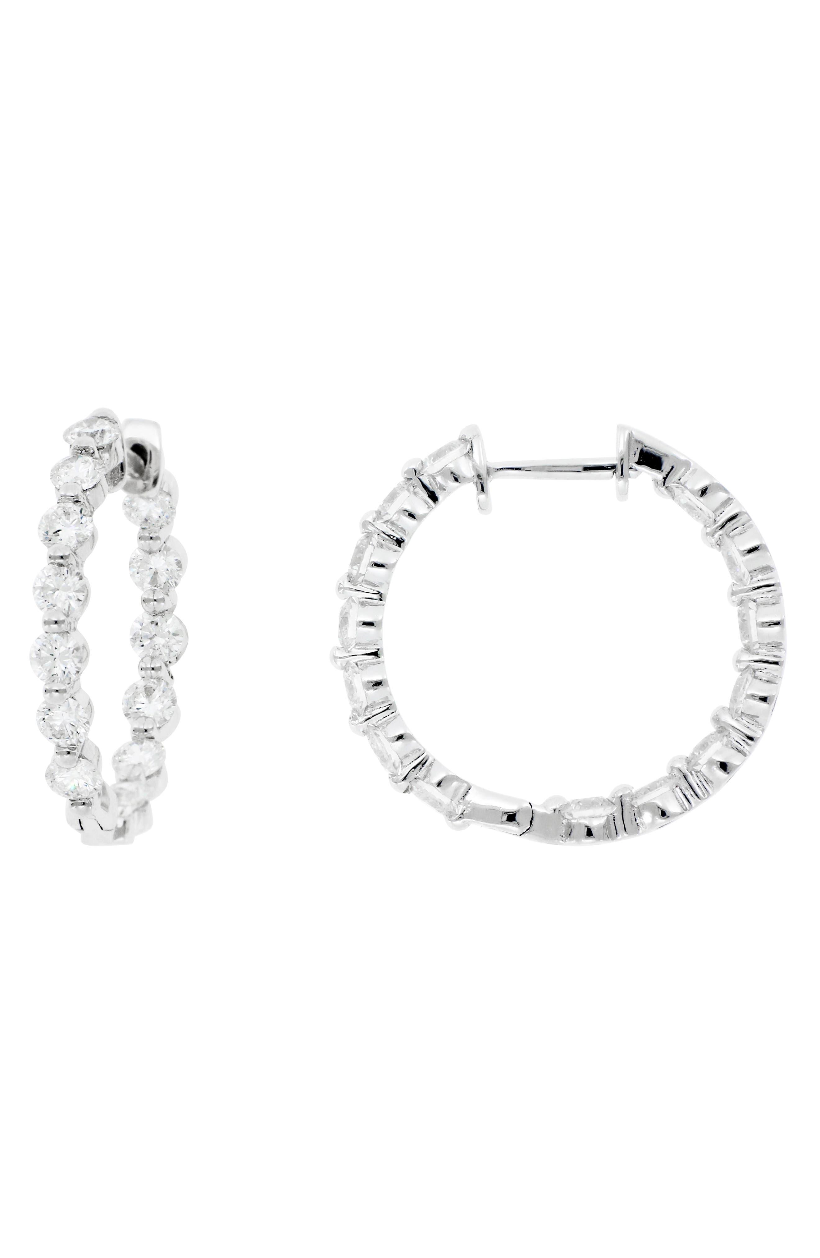Diamond Hoop Earrings, Main, color, 101