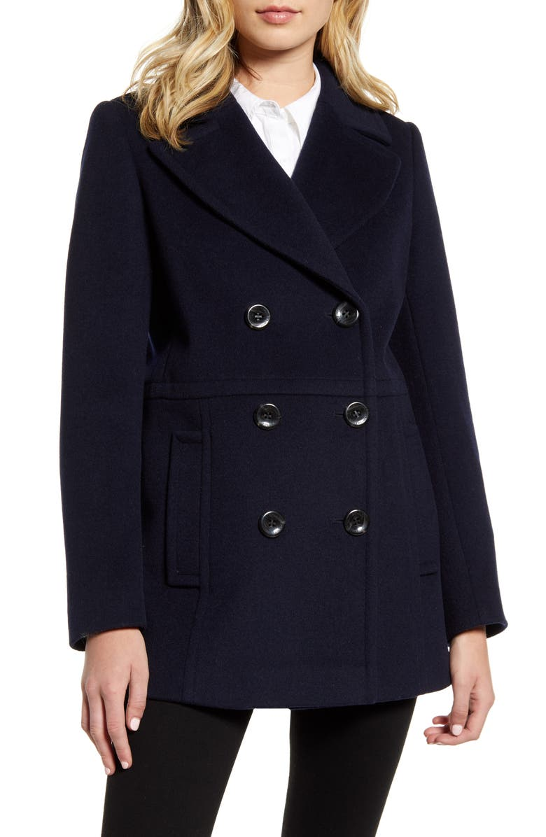 SAM EDELMAN Double Breasted Peacoat, Main, color, 412