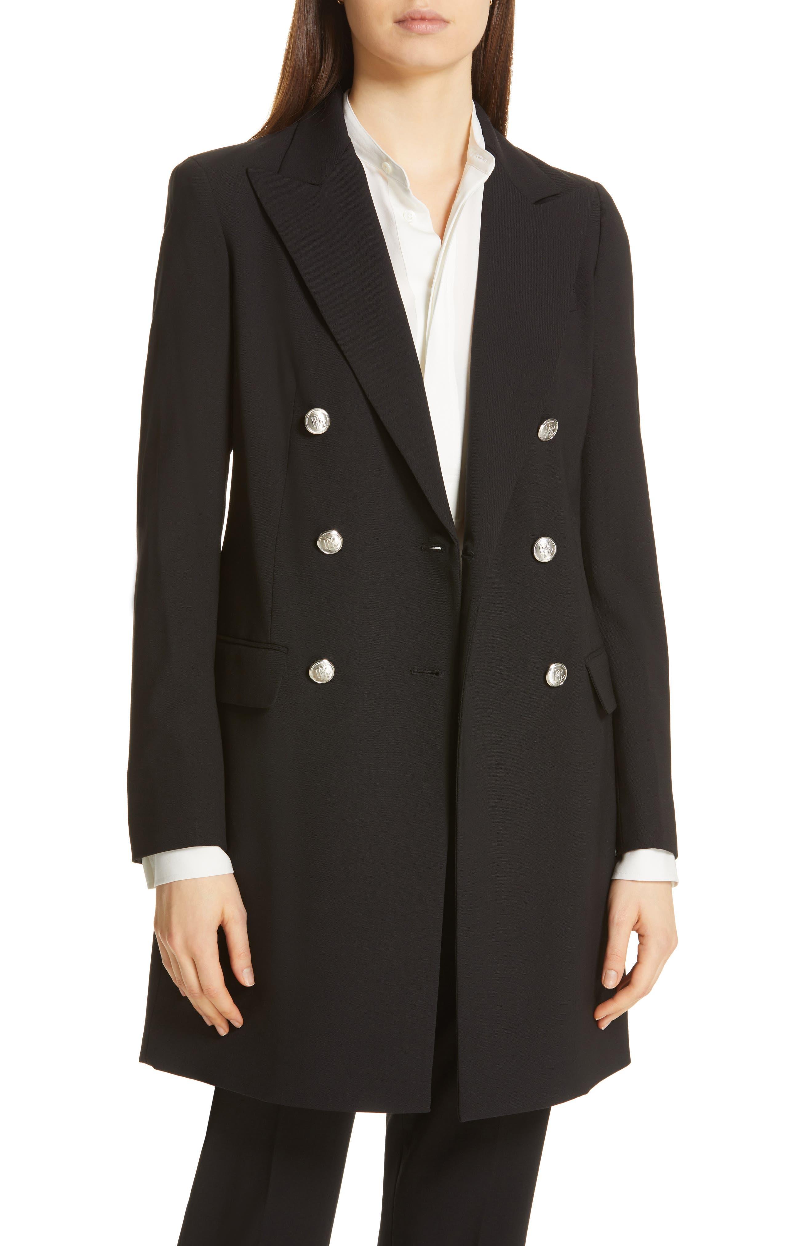 Long Blazer, Main, color, POLO BLACK