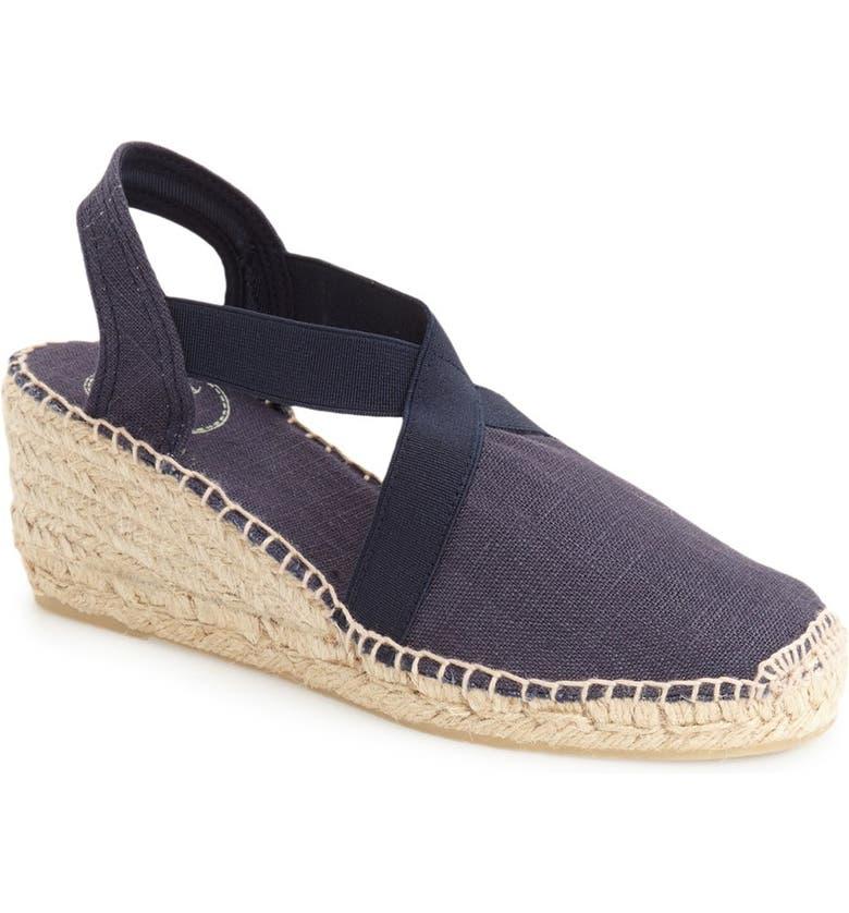 TONI PONS 'Ter' Slingback Espadrille Sandal, Main, color, NAVY LINEN