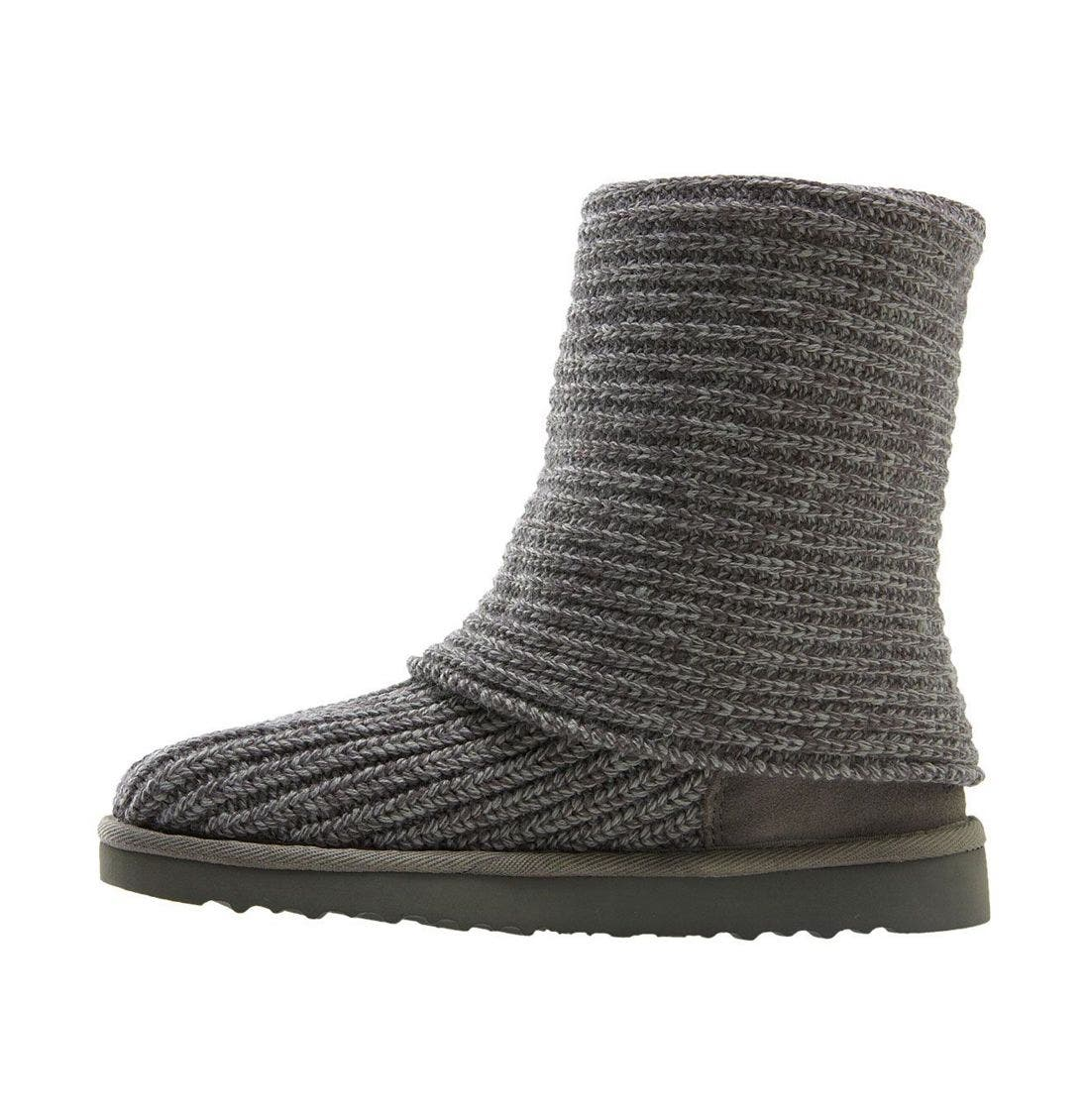 ,                             'Cardy' Classic Knit Boot,                             Alternate thumbnail 77, color,                             GRY
