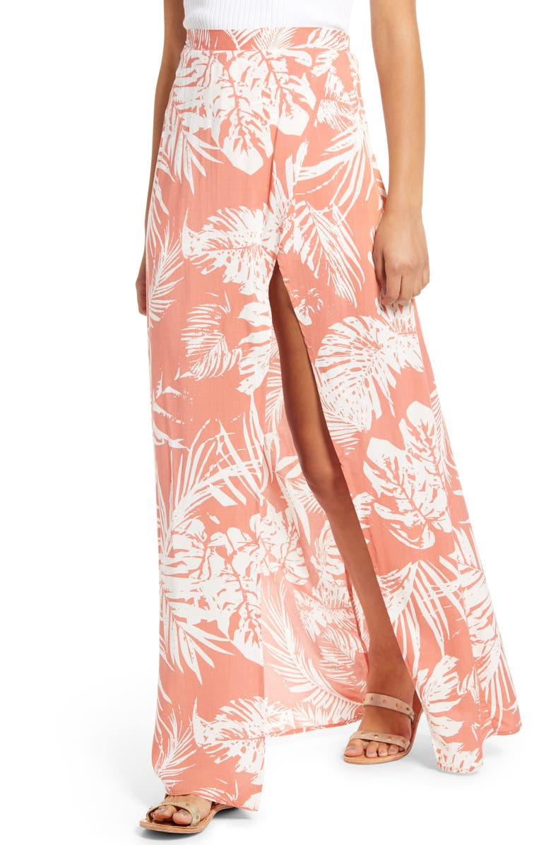 Magdalena Palm Print Maxi Skirt by Lira Clothing