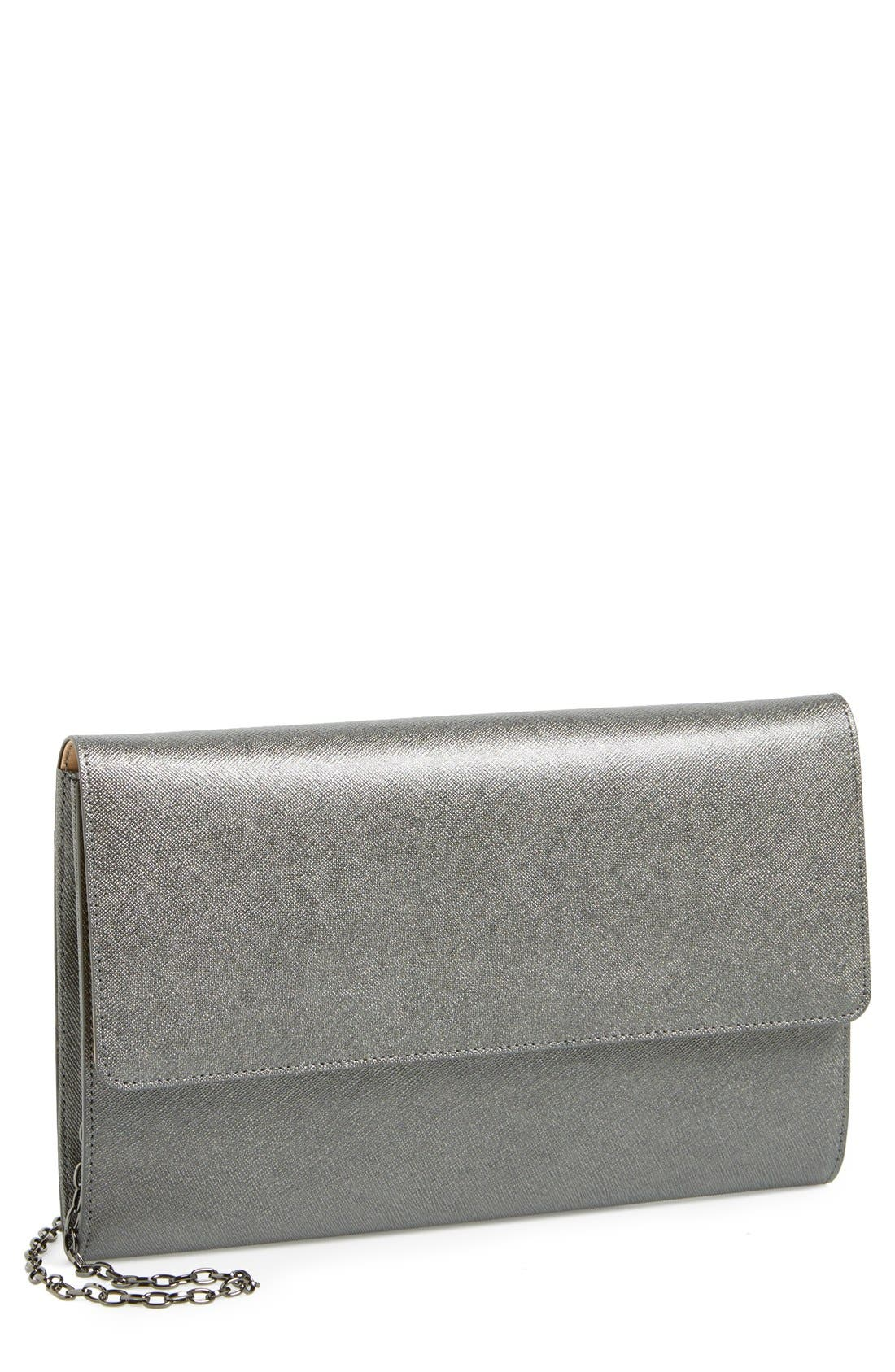 ,                             Saffiano Leather Day Clutch,                             Main thumbnail 8, color,                             041