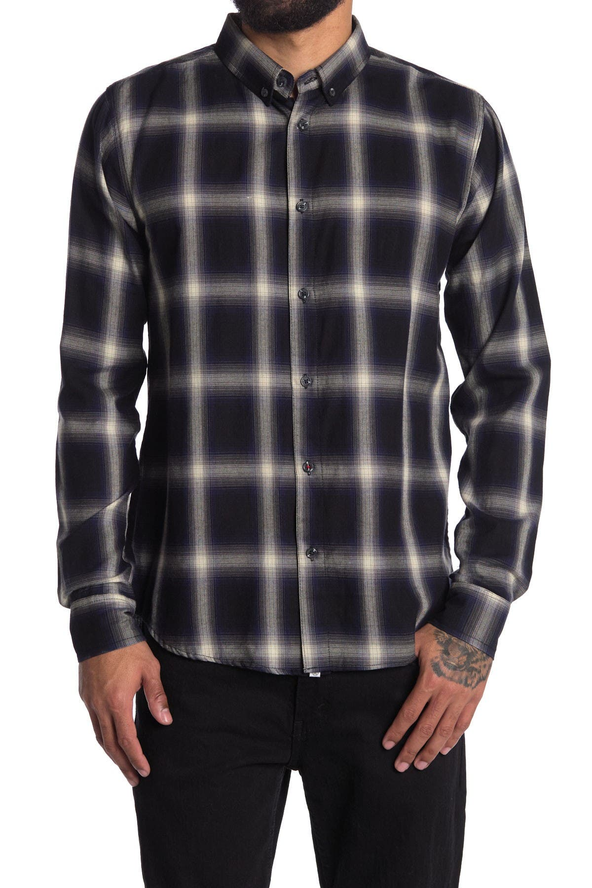 Image of Sovereign Code Outline Plaid Shirt
