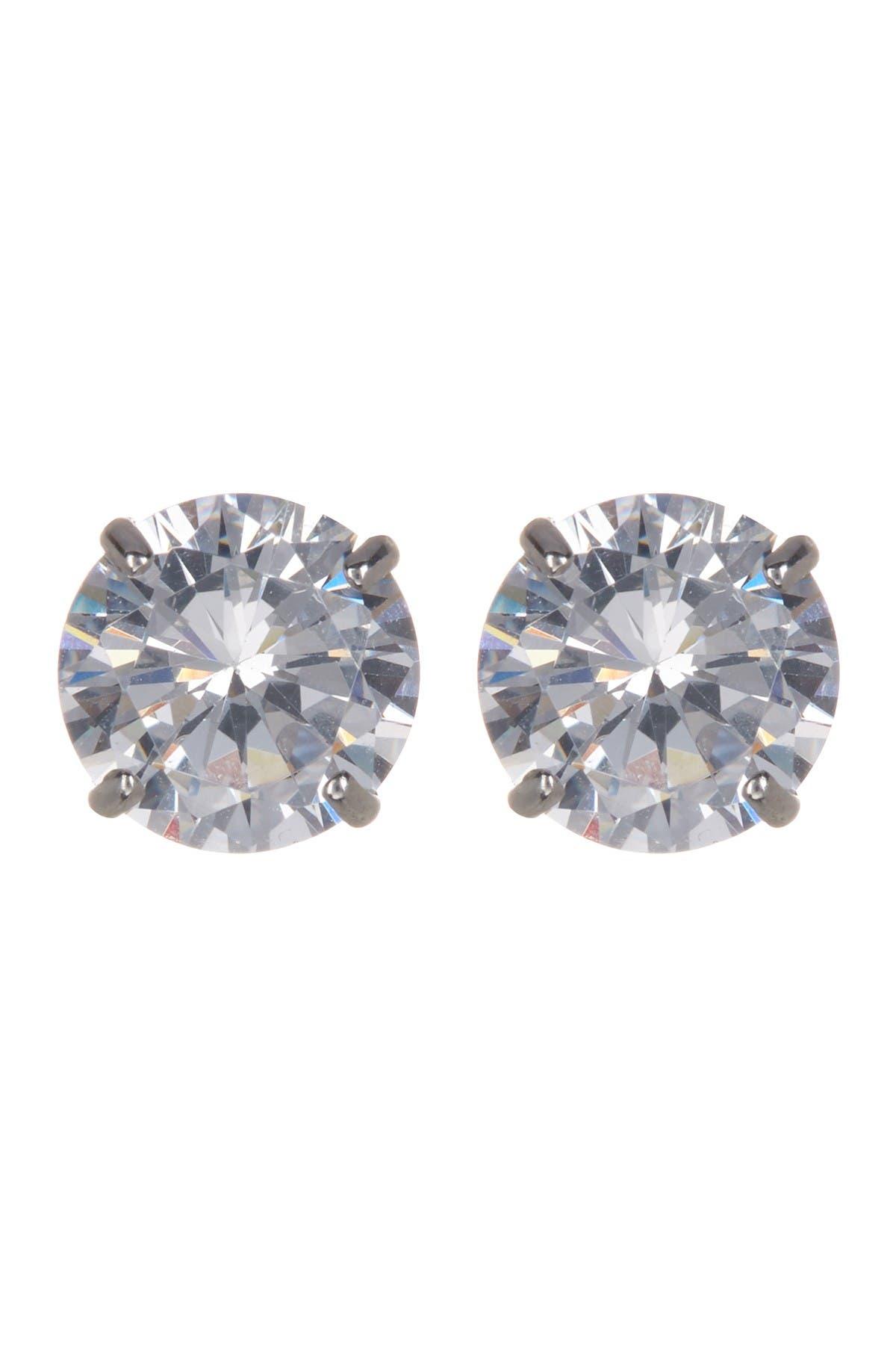 Image of Candela 14K White Gold CZ Stud Earrings