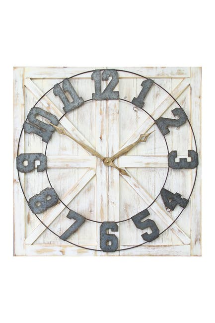 Image of Stratton Home Multi Rustic Farmhouse Wall Clock