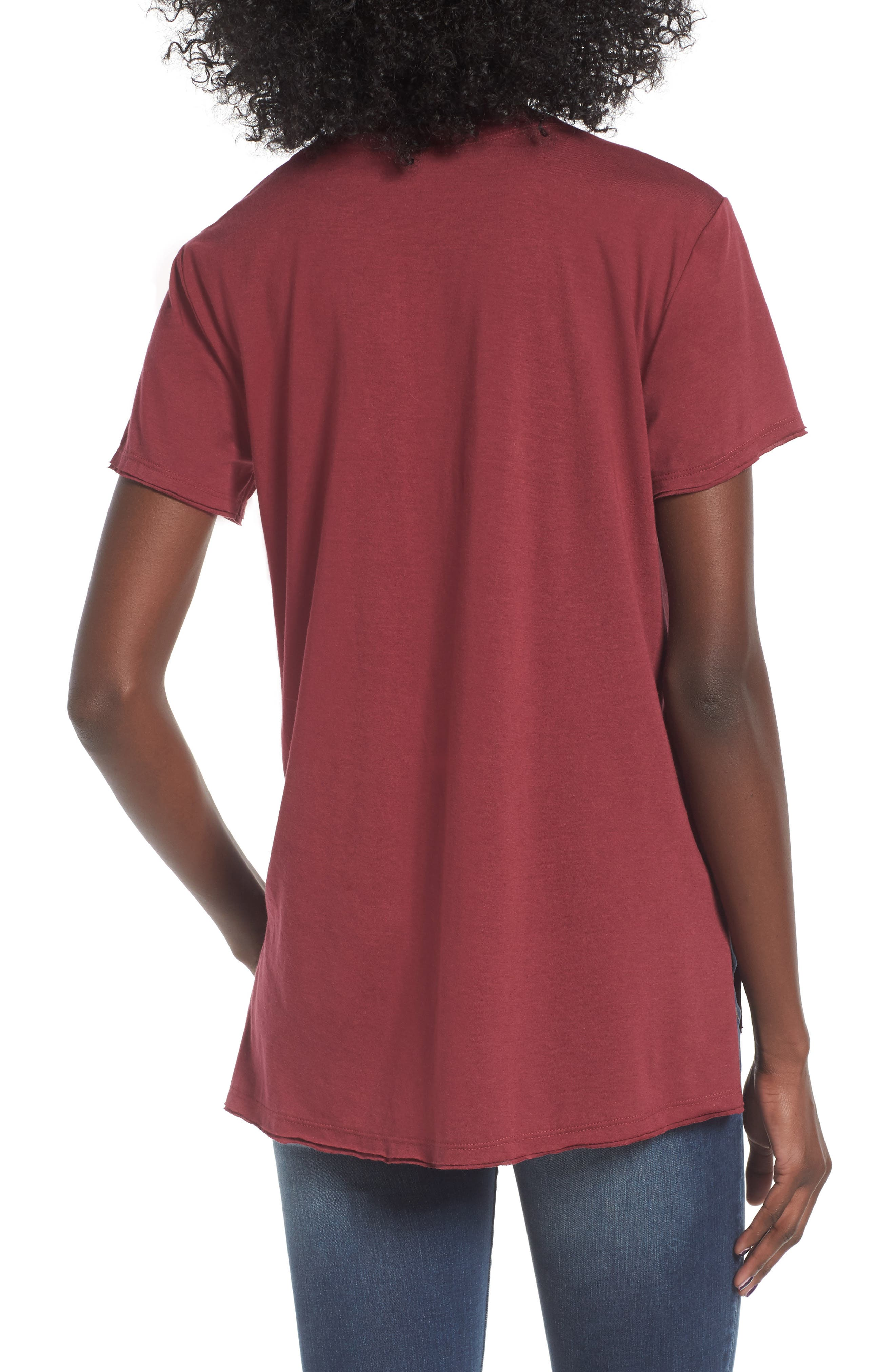,                             Raw Edge Side Slit Tee,                             Alternate thumbnail 43, color,                             930