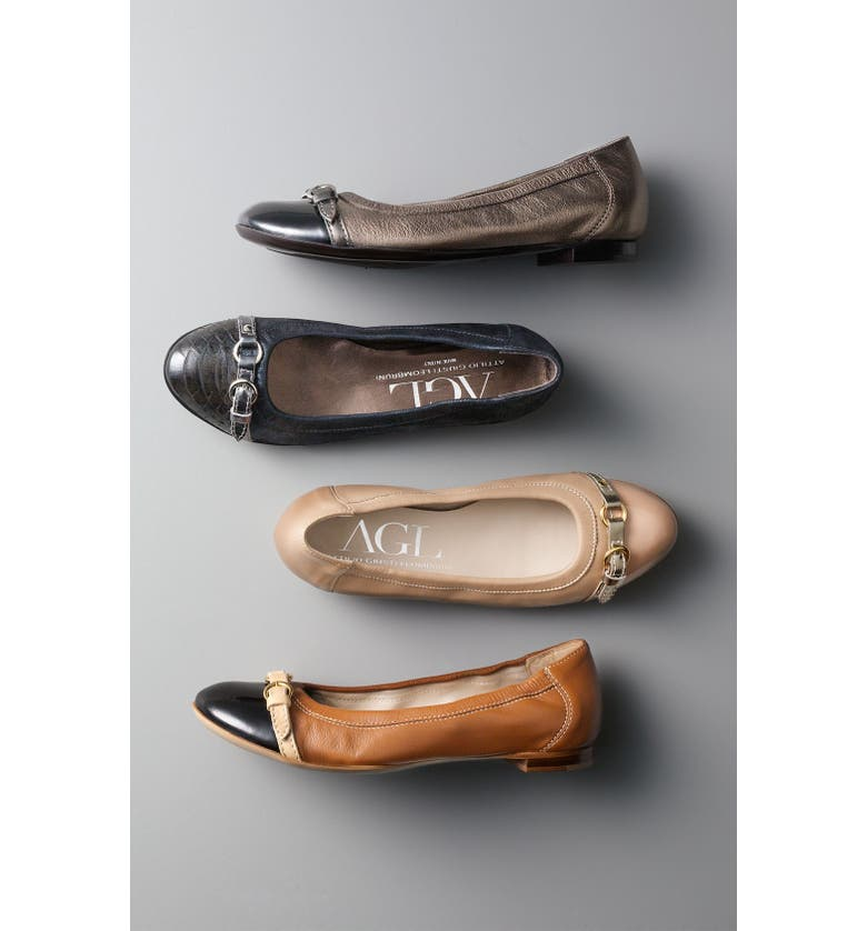 AGL Cap Toe Ballerina Flat, Main, color, 413