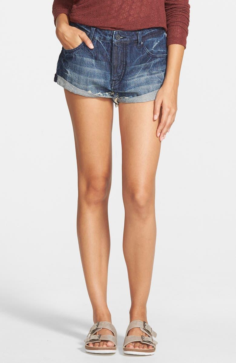 VOLCOM Cuffed Denim Shorts, Main, color, 400