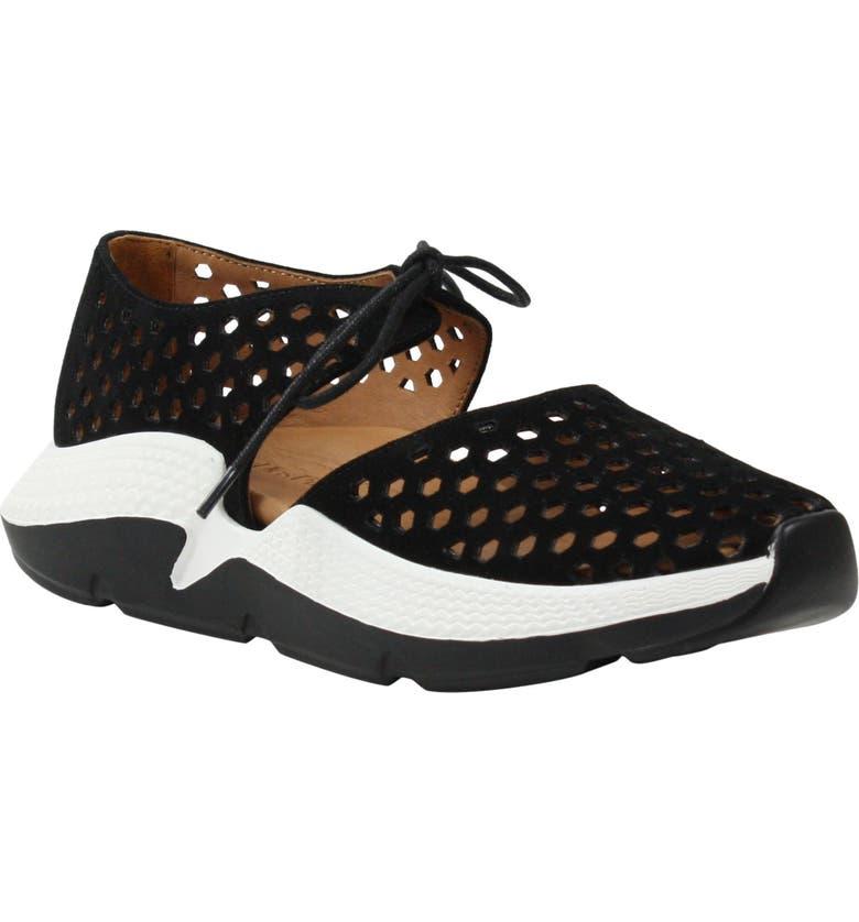 L'AMOUR DES PIEDS Himar Sneaker, Main, color, BLACK SUEDE
