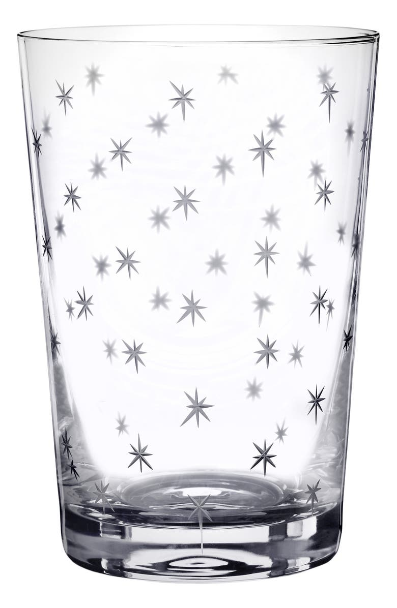 THE VINTAGE LIST Star Set of 6 Tumblers, Main, color, CLEAR
