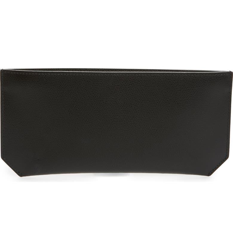 SENREVE Pebbled Leather Bracelet Pouch, Main, color, 001