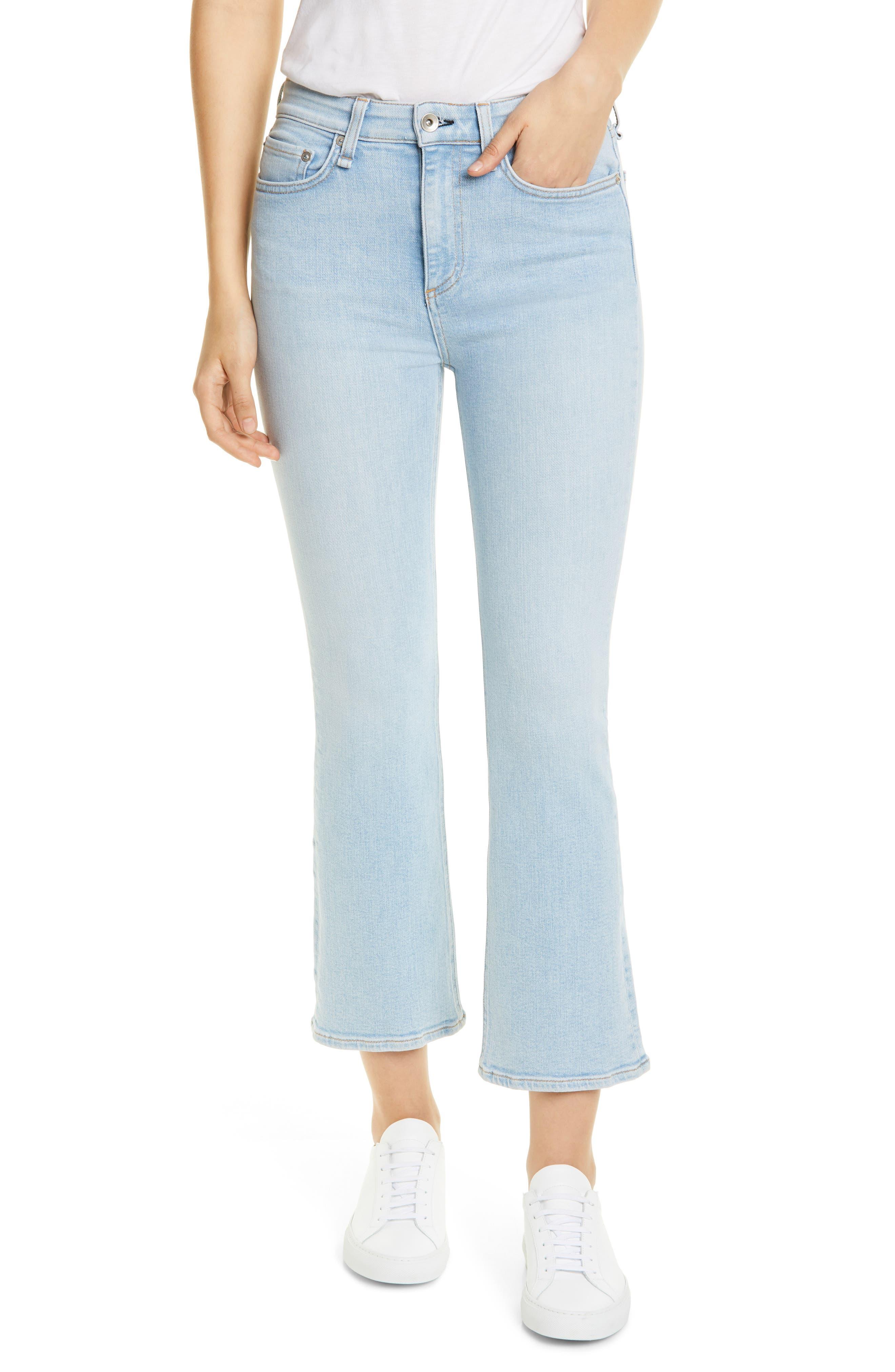 rag & bone Nina High Waist Ankle Flare Jeans (Sunset)