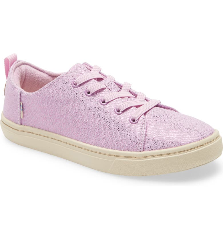 TOMS Lenny Elastic Lace Metallic Sneaker, Main, color, 510