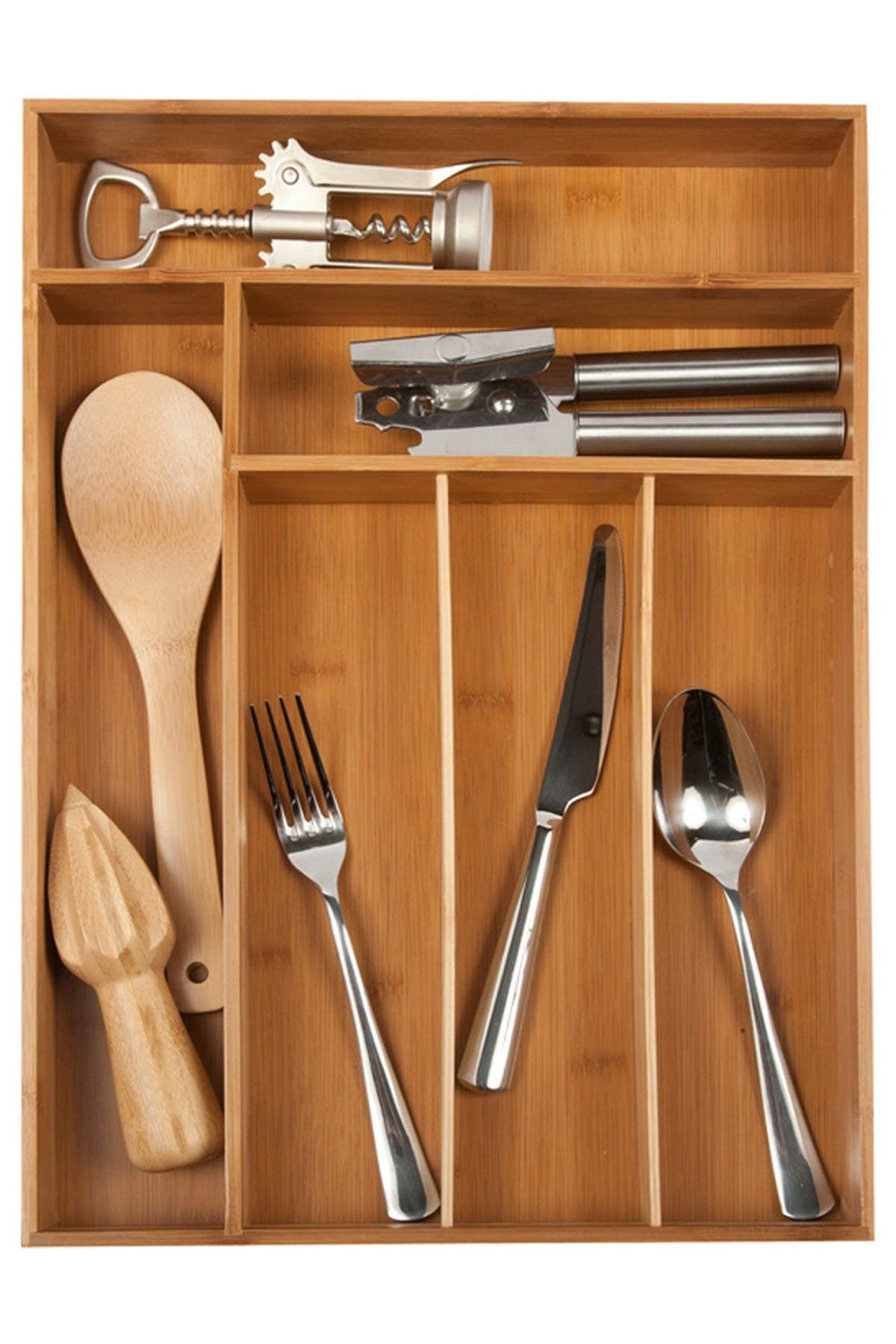 Image of Core Home Large Flatware Tray - Natural