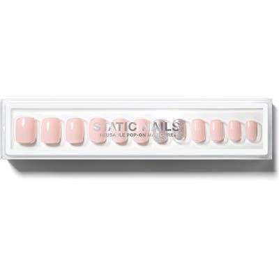 Static Nails Ballerina Square Pop-On Reusable Manicure Set - No Color