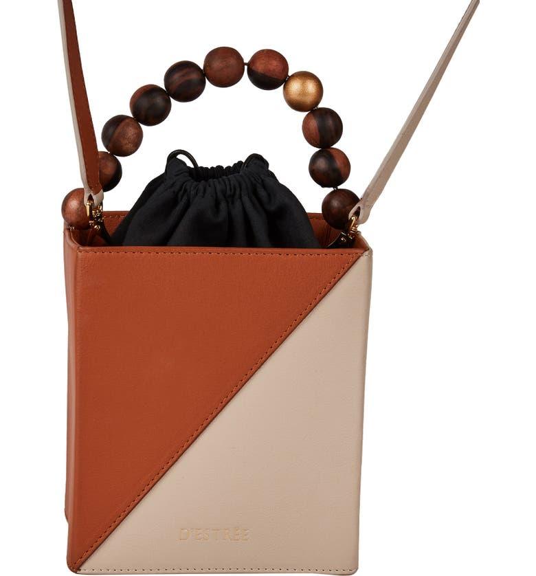 D ESTREE D'Estrëe Andy Colorblock Top Handle Bag, Main, color, GREY