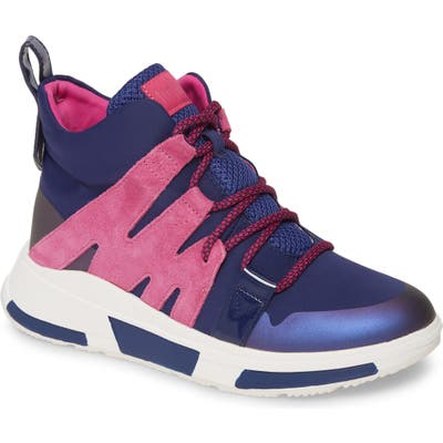 Fitflop Carita High Top Sneaker- Blue
