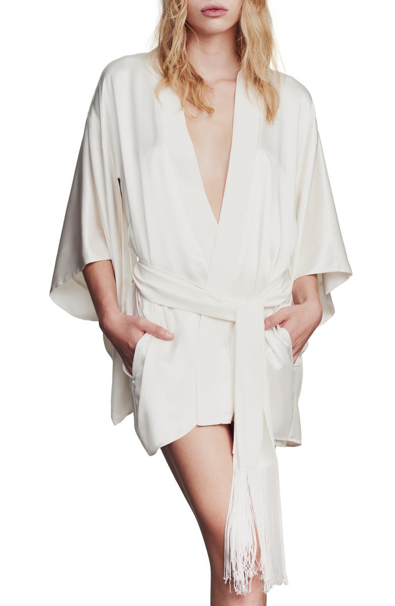 KIKI DE MONTPARNASSE Silk Robe, Main, color, IVORY